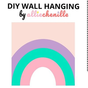Purple pink pastel rainbow DIY wall hanging cut and sew