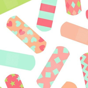 Bandaids - Large - Mint, Raspberry