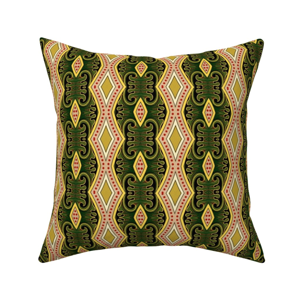 Catalan Throw Pillow featuring bizantine 156 by hypersphere