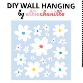 Lavender white daisies DIY wall hanging cut and sew project