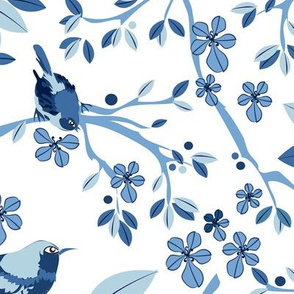 Chinoiserie Birds blue