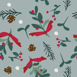 Christmas Mistletoe & Pine