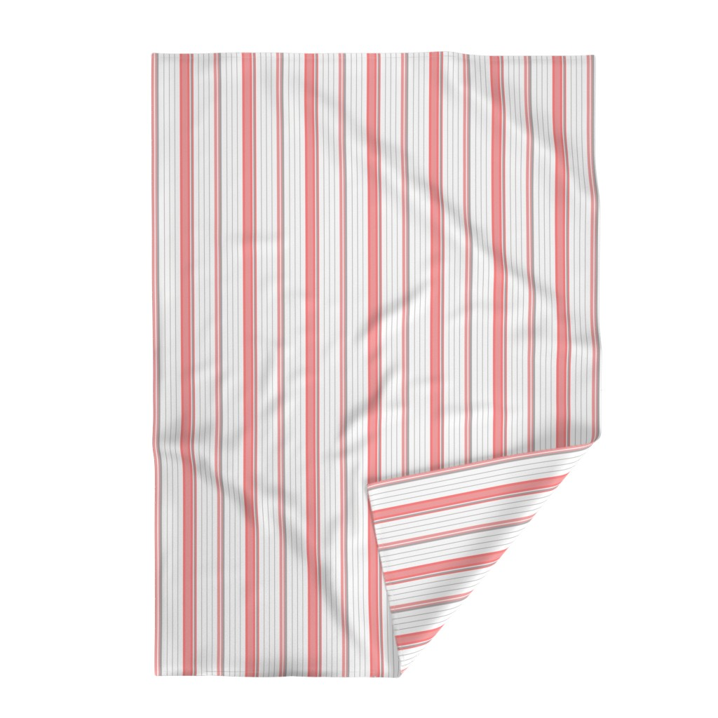 Lakenvelder Throw Blanket featuring Coral Pink & Gray Striped Stripe by cjohnson_art&design