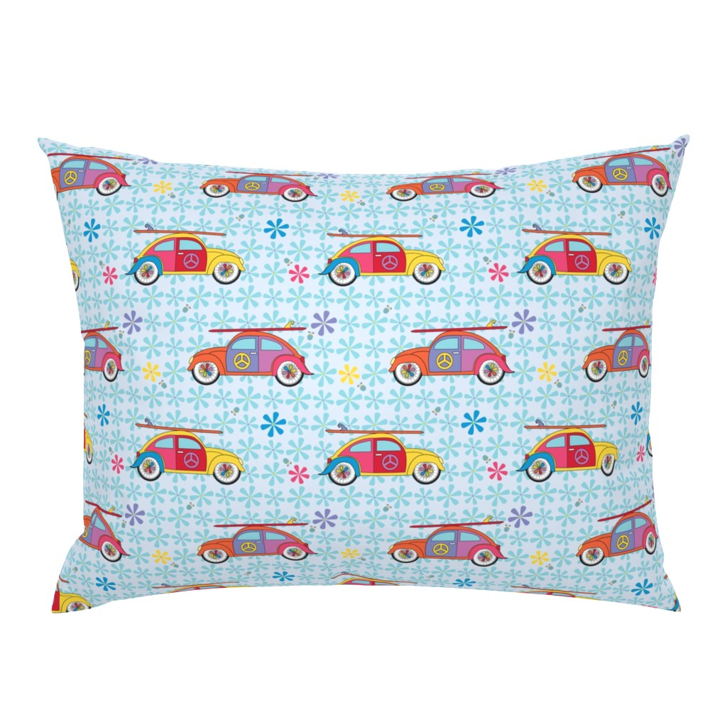 Campine Pillow Sham featuring Hippy Beetles by colour_angel_by_kv