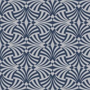 Azul Art Deco Fans Rotated