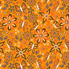 Butterfly Garden (Orange)