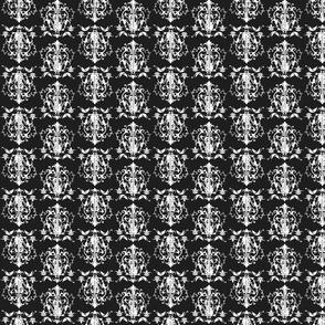 Damask mini - multi in black