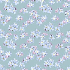 Forget-me-nots on blue