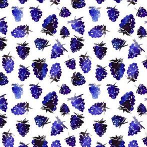 Blue berries • watercolor pattern
