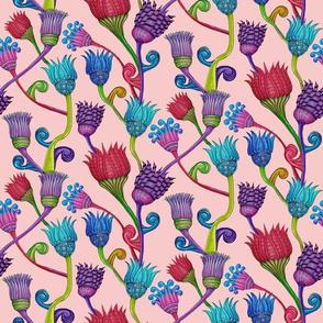 Zen Lotuses on salmon pink