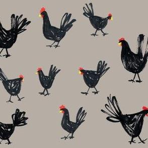 Sketchy Chickens Tan