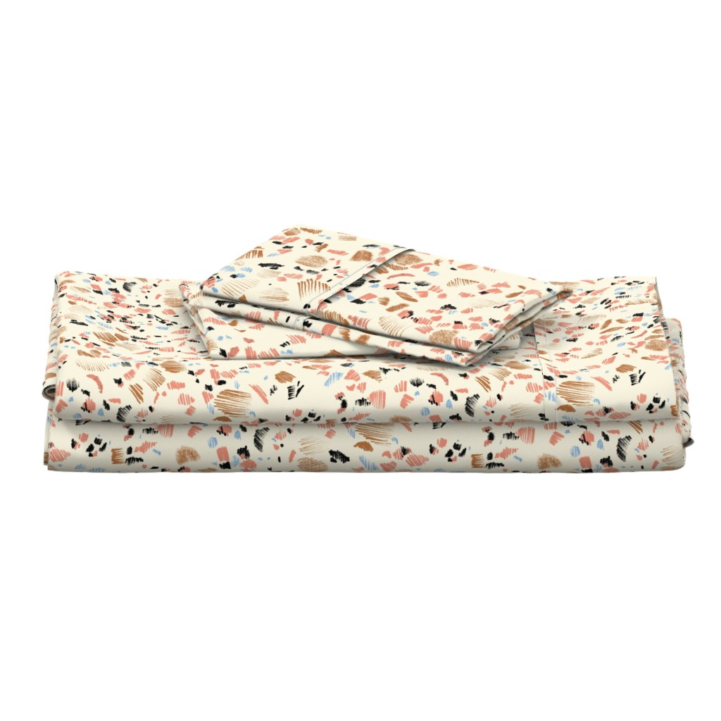 Langshan Full Bed Set featuring TERRAZZO SKETCH_WEST by pattern_state
