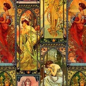 Victorian Art Nouveau Panels