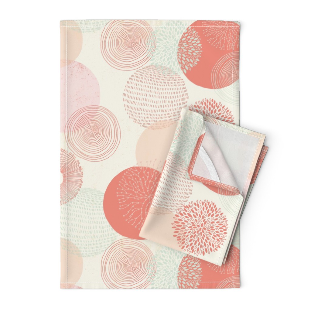 Orpington Tea Towels featuring Abstract Circles by melarmstrong
