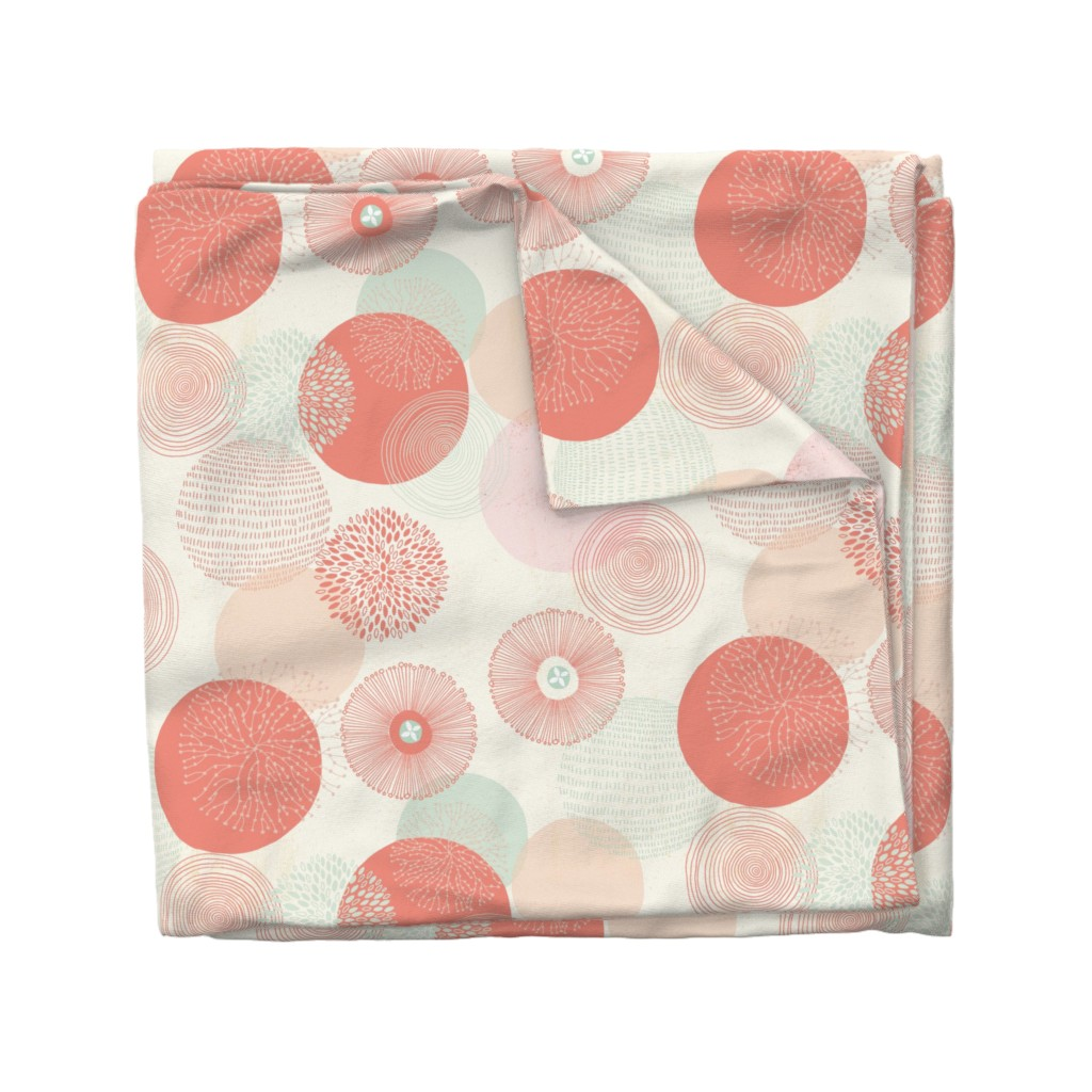 Wyandotte Duvet Cover featuring Abstract Circles by melarmstrong