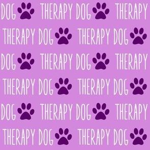 Therapy Dog Purple