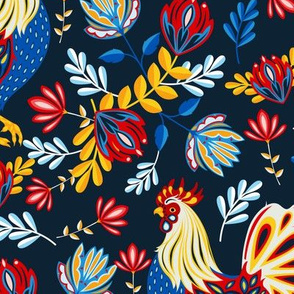 French Rooster - Navy