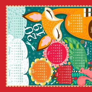 2019 Fox N Squirrel Tea Towel