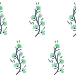 Petite Vines in Preppy Green