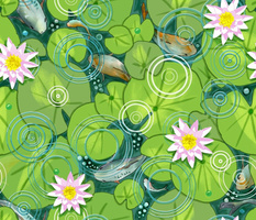 Pond Circles with Flowers