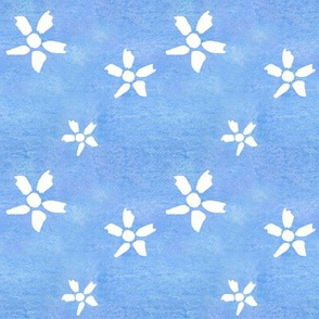 Cobalt White Flower