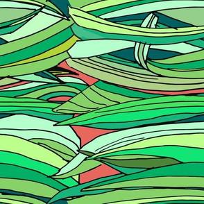 iris leaves pattern-03