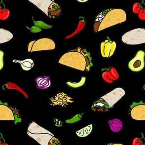 Taco! Taco! Taco! (Burrito!) in Black