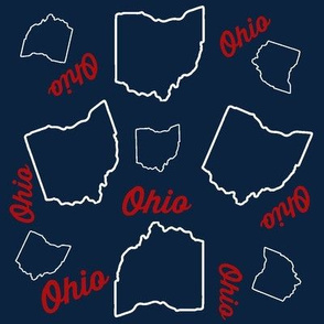 Ohio Toss in Blue & Red
