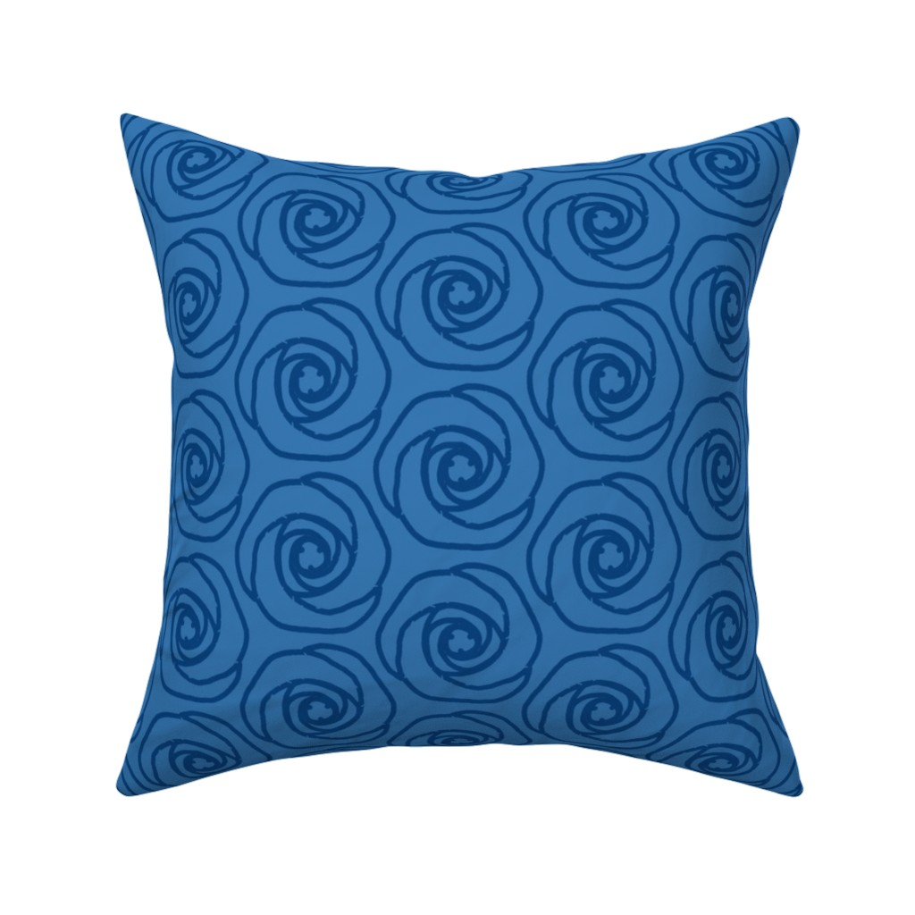 Catalan Throw Pillow featuring 187Soft hexagonal flowerBb by miamaria
