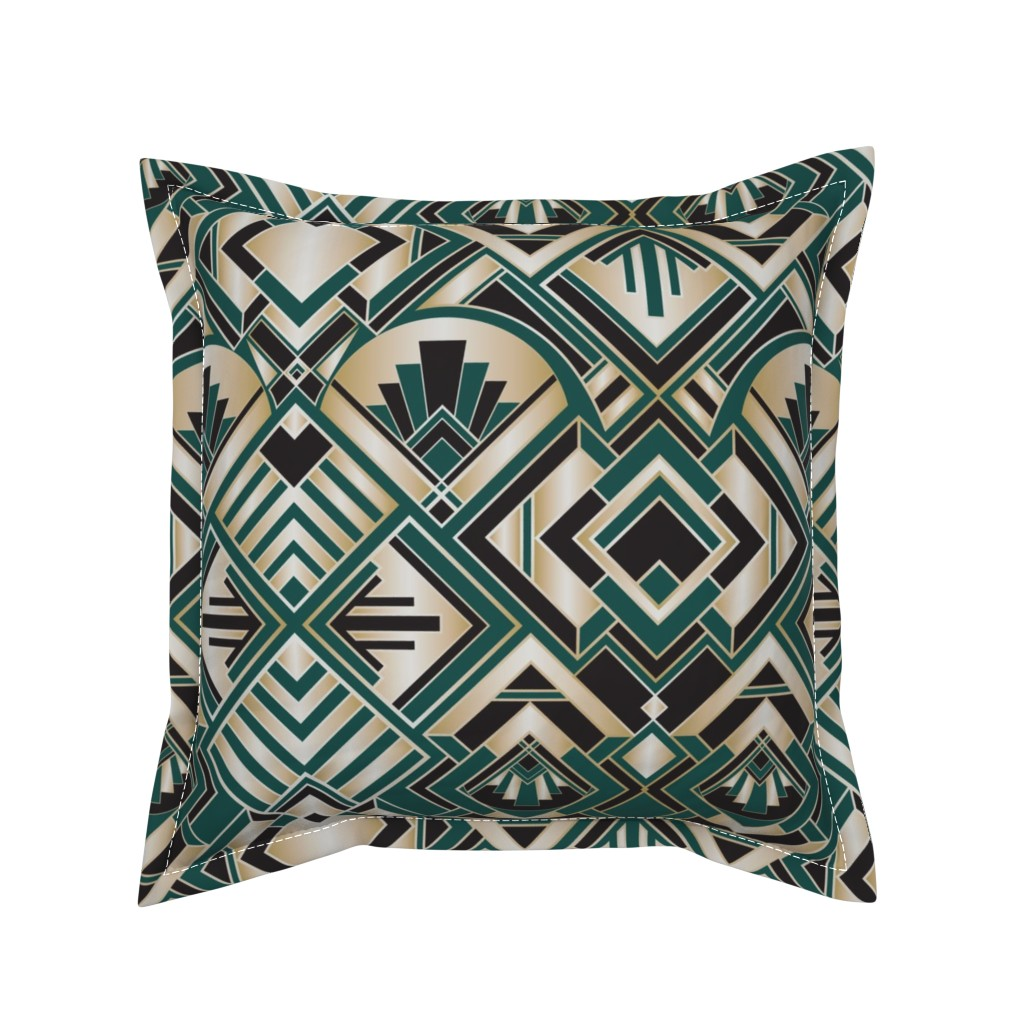 Serama Throw Pillow featuring Roaring Twenties by diseminger