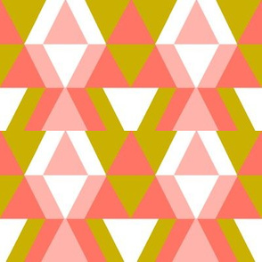 geometric shapes in blush and gold