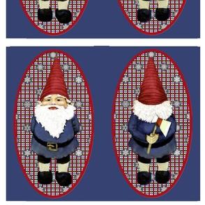 Gnome Security Plaid Snowflakes