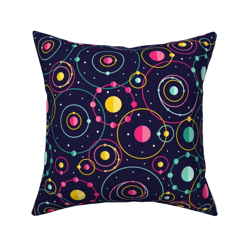Catalan Throw Pillow featuring Orbital Revolutions by robyriker