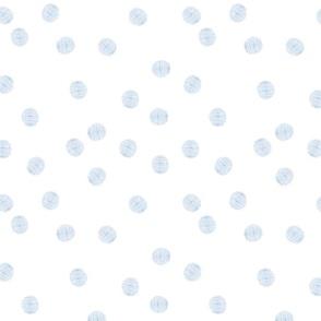 Blue Striped Polka Dots