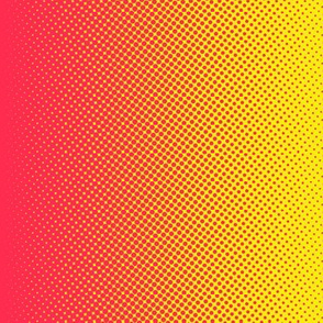 "bright pink and yellow 18"" vertical gradient"