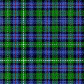 "Mackenzie / Seaforth Highlander tartan, 3"", modern colors (with twill lines)"