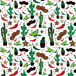 Western Cactus pattern