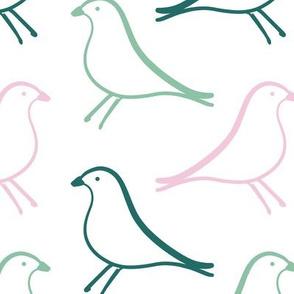 eames house bird_Genoa, Classic Rose,Summer Green
