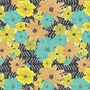 July watercolor flowers
