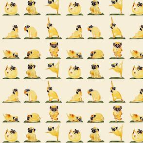 Pug Yoga Watercolor