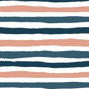 Big blue and pink stripes