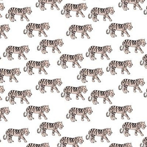 Cool little tiger illustration jungle theme beige on white