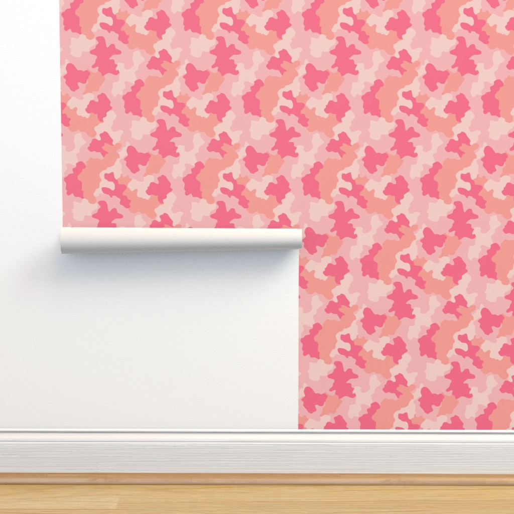 Isobar Durable Wallpaper featuring Blush Camo by kimsa