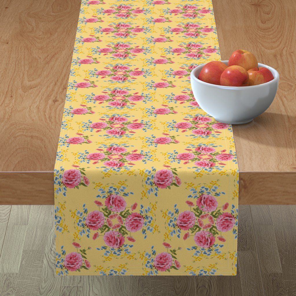 Minorca Table Runner featuring Victorian Garden Party  by krystalsavage