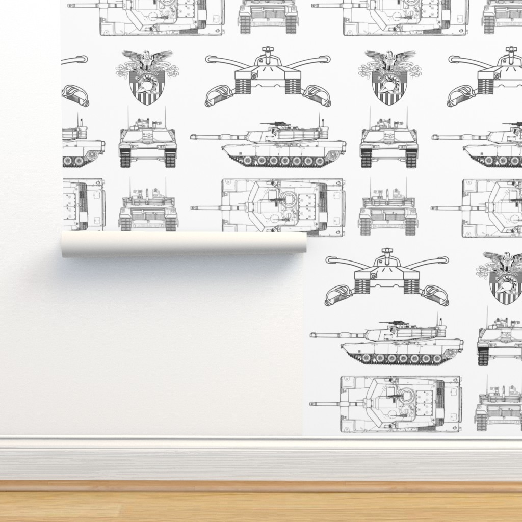 Isobar Durable Wallpaper featuring West Point and M1 Abrams tank small by tanks&planesprojects