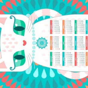 2019 Lil Deeries Tea Towel Calendar