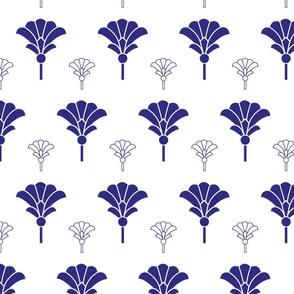 Geometric purple filled fans