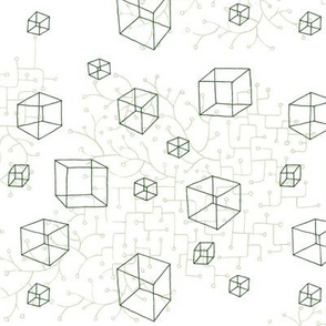 Cubes & Branchings - Dark Moss