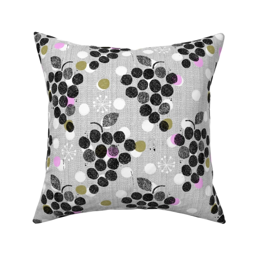 Catalan Throw Pillow featuring grapes are the new dot by ottomanbrim