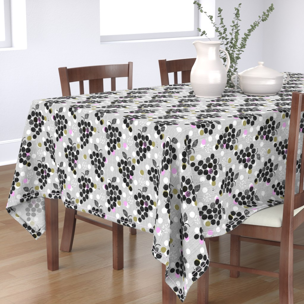 Bantam Rectangular Tablecloth featuring grapes are the new dot by ottomanbrim